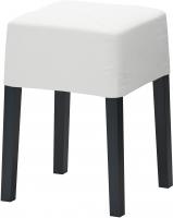 Табурет Ikea Нильс 098.503.84 (черный/белый) -
