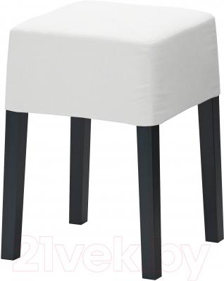 Табурет Ikea Нильс 098.503.84 (черный/белый)