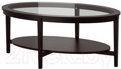 Журнальный столик Ikea Малмста 602.611.84 (черно-коричневый)