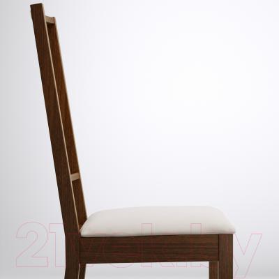 Стул Ikea Берье 098.781.23 (коричневый/песочный)