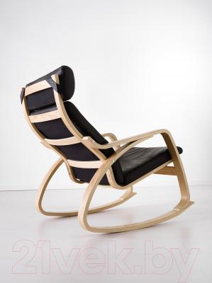 Кресло-качалка Ikea Поэнг 099.008.45 (дубовый шпон/черный)