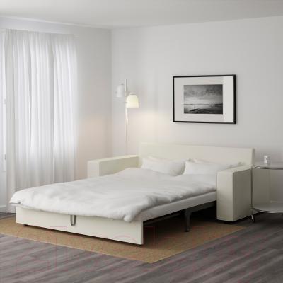 Диван-кровать Ikea Виласунд 099.072.48 (Виттарид светло-бежевый) - в разложенном виде