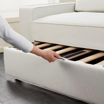 Диван-кровать Ikea Виласунд 099.072.48 (Виттарид светло-бежевый) - в процессе раскладки