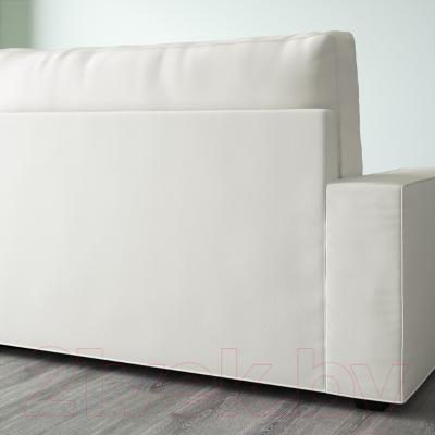 Диван-кровать Ikea Виласунд 099.072.48 (Виттарид светло-бежевый) - вид сзади