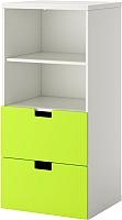 Шкаф Ikea Стува 190.177.22 (белый/зеленый) -
