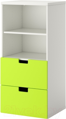 Шкаф Ikea Стува 190.177.22 (белый/зеленый)