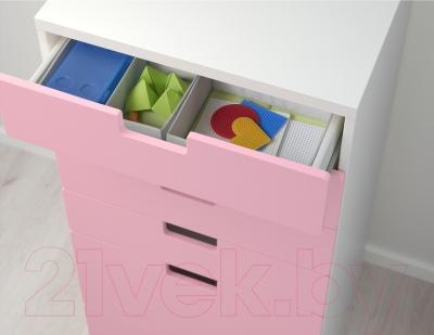 Комод Ikea Стува 190.177.60 (белый/розовый)