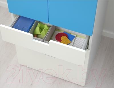 Шкаф Ikea Стува 190.177.84 (белый/синий)