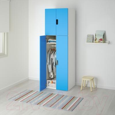 Шкаф Ikea Стува 190.178.16 (белый/синий)