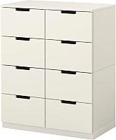 Комод Ikea Нордли 190.212.67 (белый) -