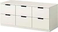 Комод Ikea Нордли 190.212.72 (белый) -