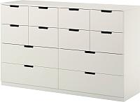 Комод Ikea Нордли 190.213.14 (белый) -
