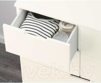 Комод Ikea Нордли 190.213.14 (белый)