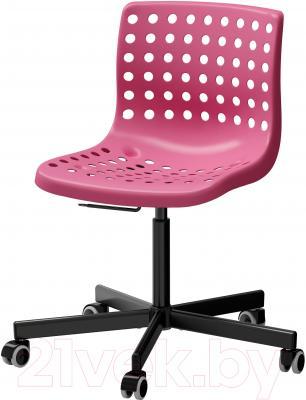 Стул офисный Ikea Сколберг/Споррен 190.236.00 (розовый/черный)