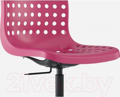 Стул офисный Ikea Сколберг/Споррен 190.236.00 (розовый/черный) - вид спереди