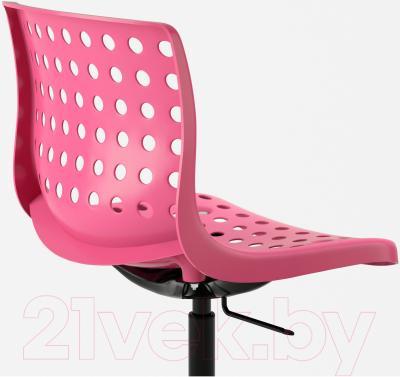 Стул офисный Ikea Сколберг/Споррен 190.236.00 (розовый/черный) - вид сзади