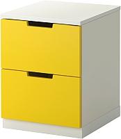 Прикроватная тумба Ikea Нордли 190.272.31 (желтый/белый) -