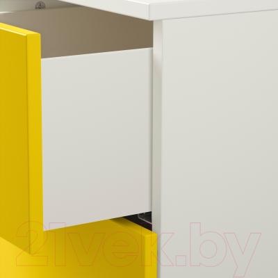 Прикроватная тумба Ikea Нордли 190.272.31 (желтый/белый)