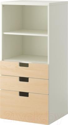 Шкаф Ikea Стува 190.289.14 (белый)