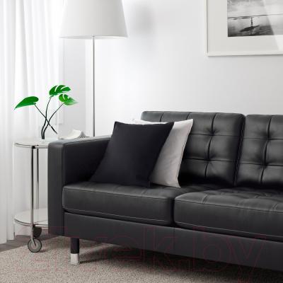Диван Ikea Ландскруна 190.317.42 (черный/металл) - в интерьере