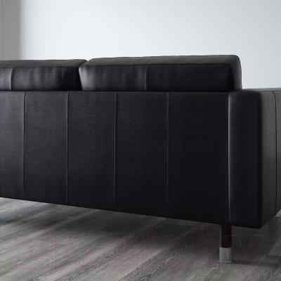 Диван Ikea Ландскруна 190.317.42 (черный/металл) - вид сзади