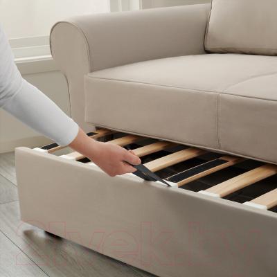 Диван-кровать Ikea Баккабру 190.335.57 (Тигельшо бежевый) - в процессе раскладки