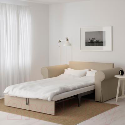 Диван-кровать Ikea Баккабру 190.335.57 (Тигельшо бежевый) - в разложенном виде