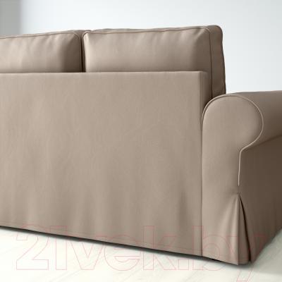 Диван-кровать Ikea Баккабру 190.335.57 (Тигельшо бежевый) - вид сзади