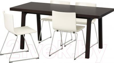 Обеденная группа Ikea Вэстанби/ Вэстано / Бернгард 191.031.83 (темно-коричневый/белый)