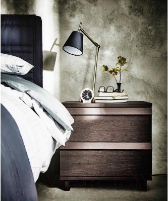Прикроватная тумба Ikea Оппланд 602.691.42 (коричневая морилка/ясеневый шпон)