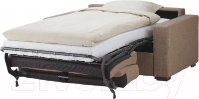 Диван-кровать Ikea Клагсторп/Лэннэс 191.304.74 (светло-коричневый) - в разложенном виде