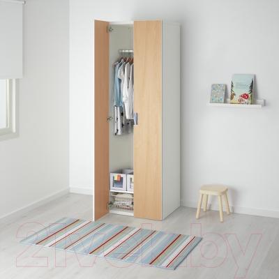 Шкаф Ikea Стува 191.335.71 (белый/береза)