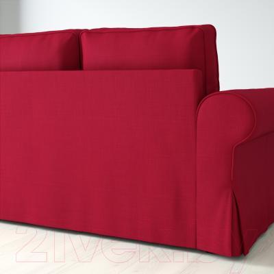 Угловой диван-кровать Ikea Баккабру 191.336.32 (Нордвалла красный)