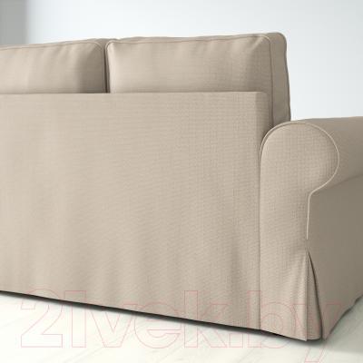 Диван-кровать Ikea Баккабру 191.336.51 (Хильте бежевый) - вид сзади