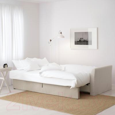 Диван-кровать Ikea Хольмсунд 191.406.23 (Нордвалла бежевый) - в разложенном виде