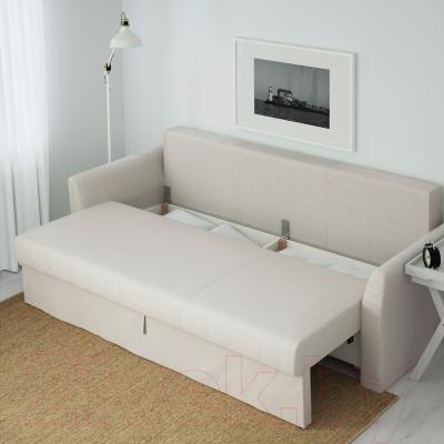 Диван-кровать Ikea Хольмсунд 191.406.23 (Нордвалла бежевый) - ящик для хранения белья