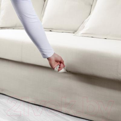 """Диван-кровать Ikea Хольмсунд 191.406.23 (Нордвалла бежевый) - механизм трансформации """"еврокнижка"""""""
