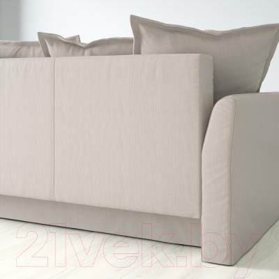 Диван-кровать Ikea Хольмсунд 191.406.23 (Нордвалла бежевый) - вид сзади