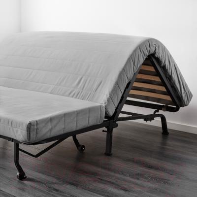 """Диван-кровать Ikea Ликселе Мурбо 191.661.80 (Эббарп черный/белый) - механизм трансформации """"аккордеон"""""""