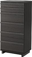Комод Ikea Оппланд 602.691.61 (коричневая морилка/ясеневый шпон) -