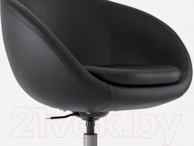 Кресло офисное Ikea Скрувста 602.800.26 (черный) - вид спереди