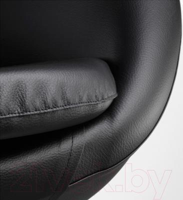 Кресло офисное Ikea Скрувста 602.800.26 (черный) - обивка из искусственной кожи
