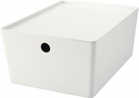 Ящик для хранения Ikea Куггис 602.802.05 (белый) -