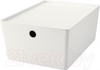 Ящик для хранения Ikea Куггис 602.802.05 (белый)