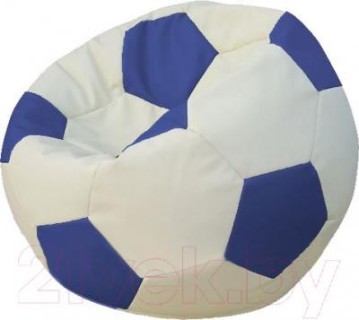 Бескаркасное кресло Flagman Мяч Стандарт М1.3-1003 (белый/синий)