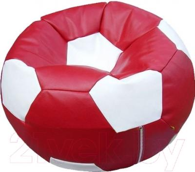 Бескаркасное кресло Flagman Мяч Стандарт М1.3-26 (бордовый/белый)