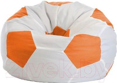 Бескаркасное кресло Flagman Мяч Стандарт М1.1-05 (белый/оранжевый)