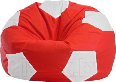 Бескаркасное кресло Flagman Мяч Стандарт М1.1-10 (красный/белый)