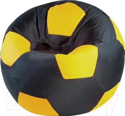 Бескаркасное кресло Flagman Мяч Стандарт М1.1-12 (черный/желтый)