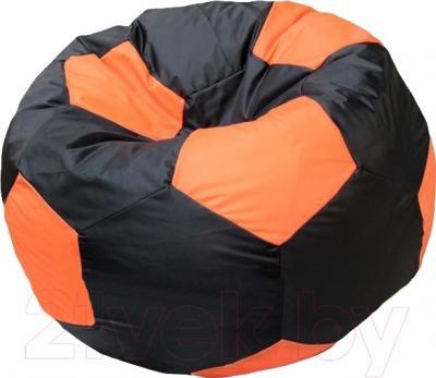 Бескаркасное кресло Flagman Мяч Стандарт М1.1-13 (черный/оранжевый)